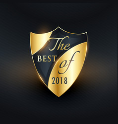 Best of the year golden badge or label design vector