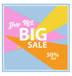 Big sale banner design vector