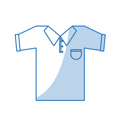 Blue shading silhouette cartoon golf t-shirt sport vector
