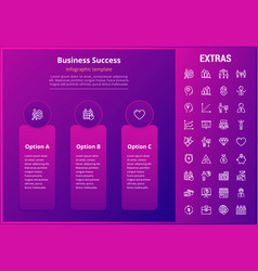 business success infographic template and elements vector image