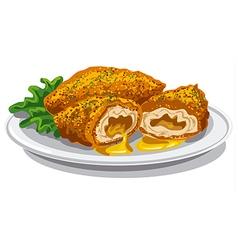 Chicken kiev cutlets vector