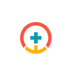 cross medic pharmacy logo vector image