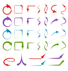 different arrows vector image