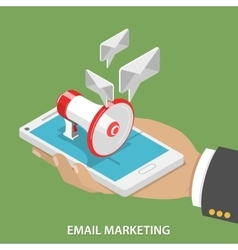 Email marketing flat isometric concept vector