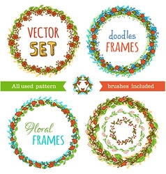 Floral Frame Collection set vector image