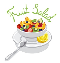 fresh fruits salad vector image