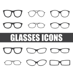Glasses set vector