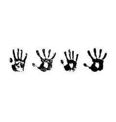 Hand print grunge paint vector