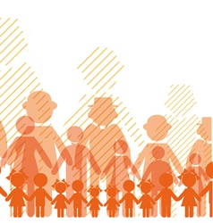 icon crowd people vector image