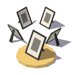 Isometric desktop photo frame vector