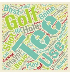 Know Your Course Tees text background wordcloud vector image