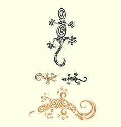 Lizard decor vector image