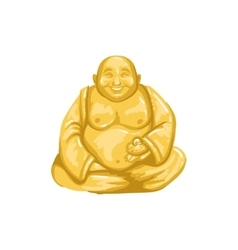 Netsuke figurine japanese culture symbol vector
