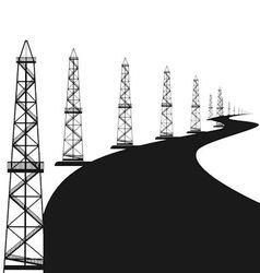 Oil rigs vector