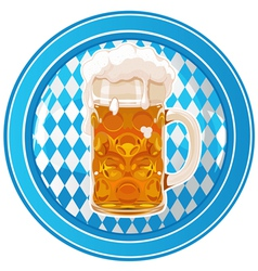 Oktoberfest circle button vector image vector image