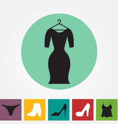 party fashion dress icon or silhouette with vector image vector image