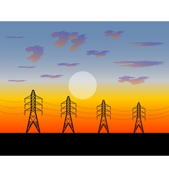 Poles electric an iron construction vector