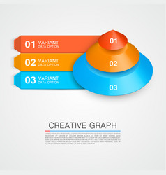 pyramid icon for business creative graph vector image