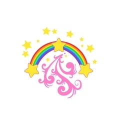Rainbow And Stars Drawing vector image vector image