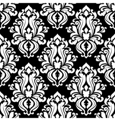 Retro black and white seamless pattern vector