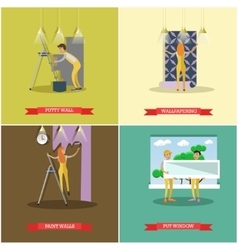 set of construction and repairing house vector image