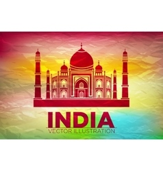 Stencil of the Taj Mahal on a sunset background vector image