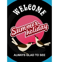 summer holiday flyer vector image vector image