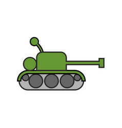 Tank childs drawing style fighting war machine vector