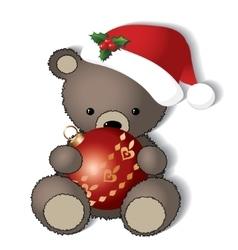 Teddy bear is ready for the christmas vector