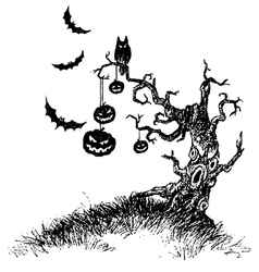 tree of devil vector image vector image