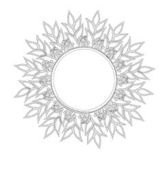 Vintage round frame sun vector image vector image