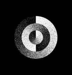 White abstract circle badge vector