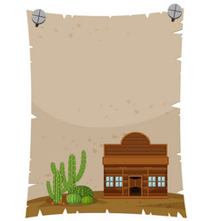 paper template with wooden shop vector image