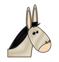 Cute mule manger character design vector