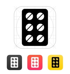 Pack pills icon vector