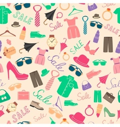 Fashion and clothes accessories seamless pattern vector image