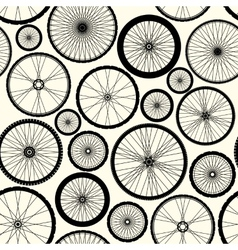 Pattern of bicycle wheels vector