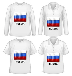 Russia shirts vector