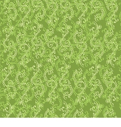 beautiful pattern with green floral pattern vector image