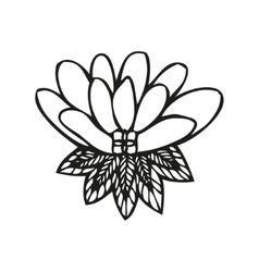 Amazing fantasy flower in tattoo style vector