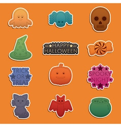 Halloween stickers vector