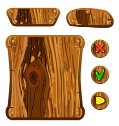 Wooden game assets-2 vector