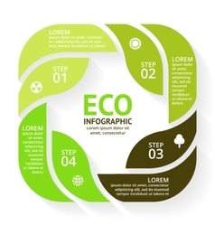 Circle arrows green leaves eco infographic vector