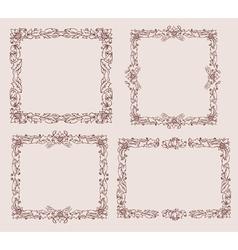 ornament doodles vector image