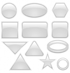 Glass icon set vector