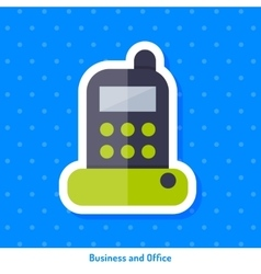 Icon of stationary phone vector