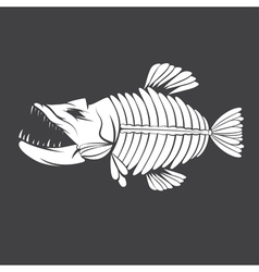 Design template of aggressive tropical fish vector