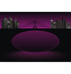 city frame purple vector image