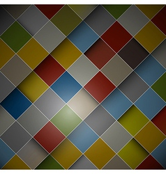 Abstract dark background - colorful squares vector image