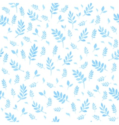 Beautiful watercolor seamless pattern with leaves vector image